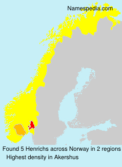 Surname Henrichs in Norway