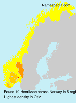 Surname Henrikson in Norway