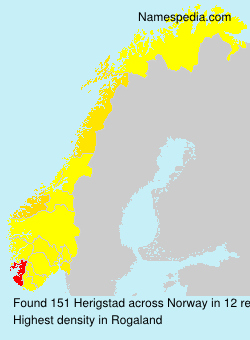 Surname Herigstad in Norway