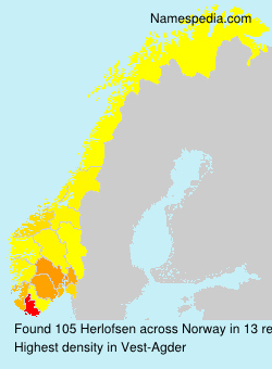 Surname Herlofsen in Norway
