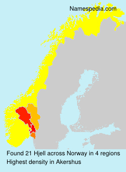 Surname Hjell in Norway