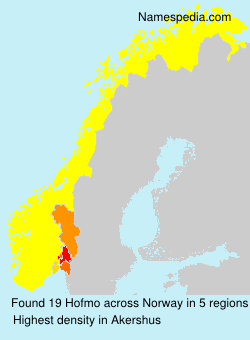 Surname Hofmo in Norway