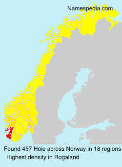 Surname Hoie in Norway