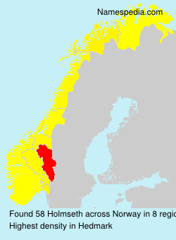 Surname Holmseth in Norway