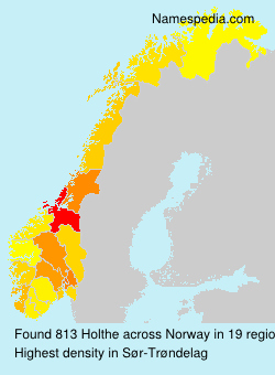 Surname Holthe in Norway