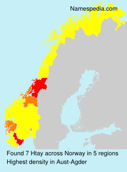 Surname Htay in Norway