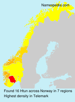 Surname Htun in Norway