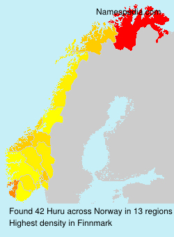 Surname Huru in Norway