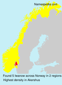 Surname Iwanow in Norway