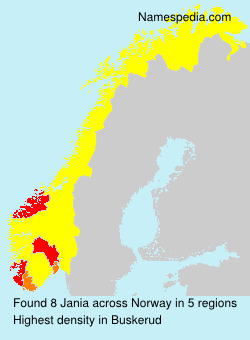 Surname Jania in Norway