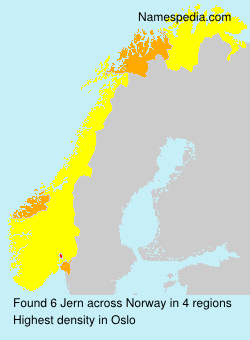 Surname Jern in Norway