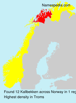 Surname Kallbekken in Norway