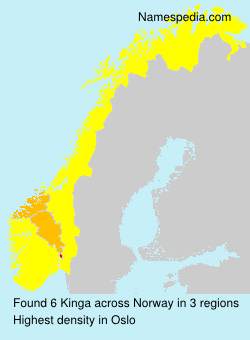 Surname Kinga in Norway
