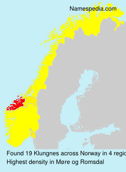 Surname Klungnes in Norway