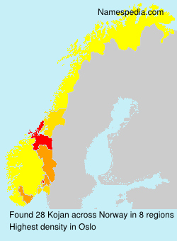 Surname Kojan in Norway