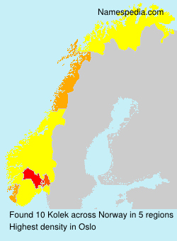 Surname Kolek in Norway