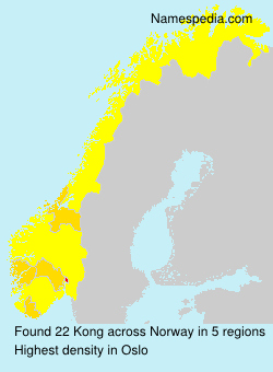 Surname Kong in Norway