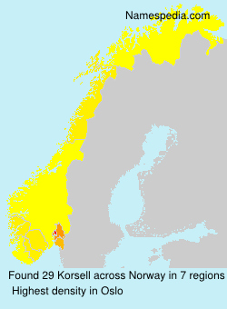 Surname Korsell in Norway