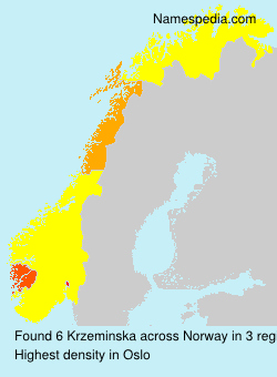 Surname Krzeminska in Norway