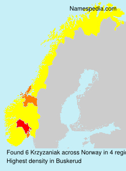 Surname Krzyzaniak in Norway