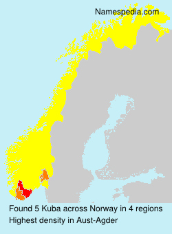 Surname Kuba in Norway