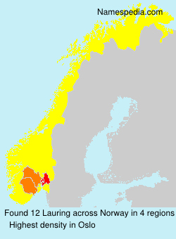 Surname Lauring in Norway
