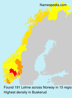 Surname Lehne in Norway