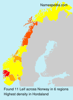 Surname Leif in Norway