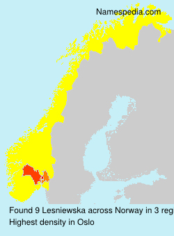 Surname Lesniewska in Norway