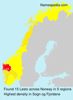 Surname Lesto in Norway