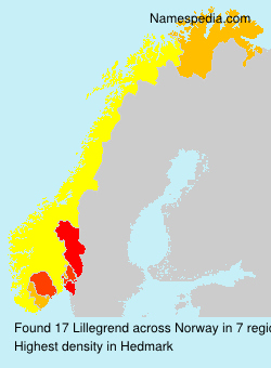 Surname Lillegrend in Norway