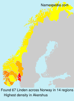 Surname Linden in Norway