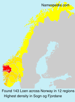 Surname Loen in Norway