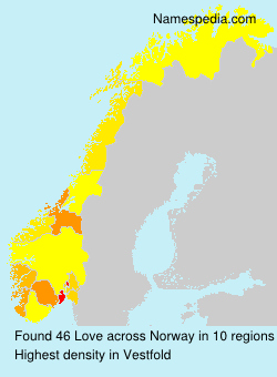 Surname Love in Norway