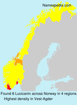 Surname Lucicanin in Norway