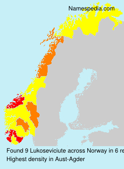 Surname Lukoseviciute in Norway