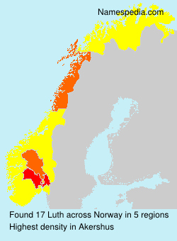 Surname Luth in Norway