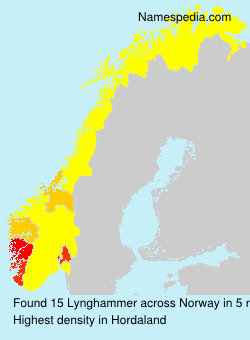 Surname Lynghammer in Norway