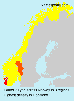 Surname Lyon in Norway