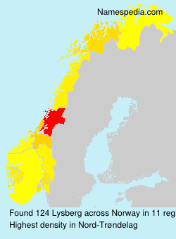 Surname Lysberg in Norway