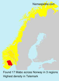 Surname Mabo in Norway