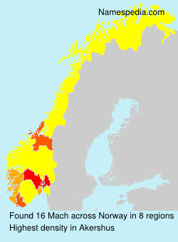 Surname Mach in Norway