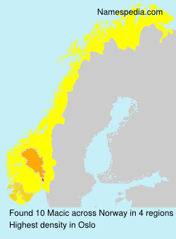 Surname Macic in Norway