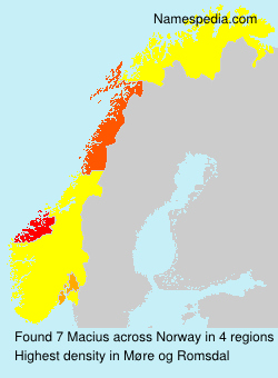 Surname Macius in Norway
