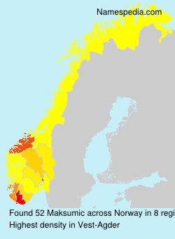 Surname Maksumic in Norway
