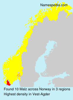Surname Malz in Norway