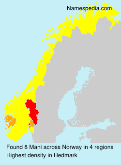 Surname Mani in Norway