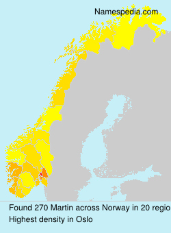 Surname Martin in Norway