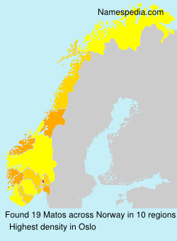 Surname Matos in Norway