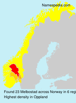 Surname Melbostad in Norway